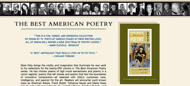 Rekdal Poem Included in Best American Poetry