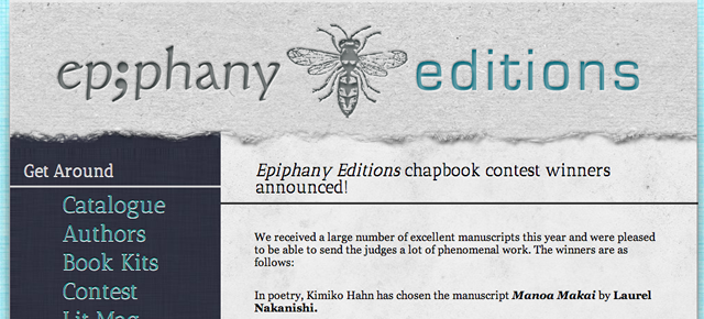 Woolfitt Manuscript Wins Epiphany Editions Chapbook Contest
