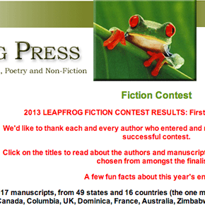 Armstrong Story Collection Wins Leapfrog Press Fiction Contest