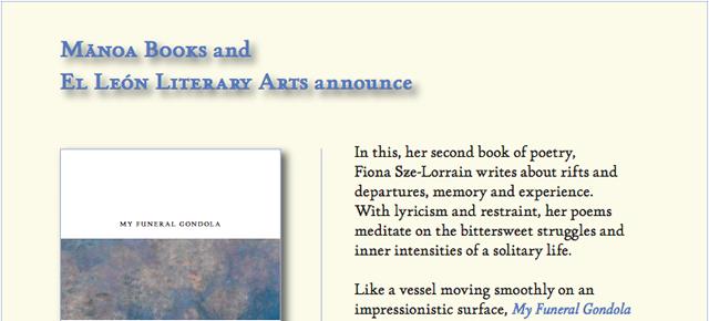 New Sze-Lorrain Poetry Collection