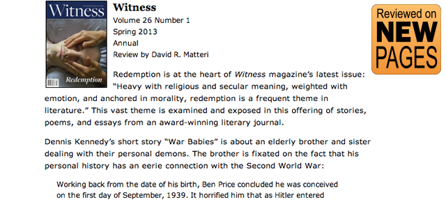 """Witness XXVI.2 (""""Redemption"""") Reviewed on New Pages"""