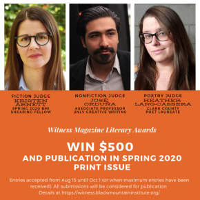 2020 Annual Literary Awards  is Now Open!