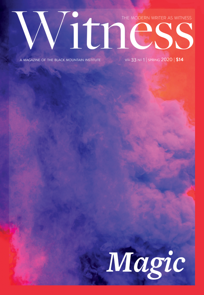 Witness magazine cover for Magic (Spring 2020)